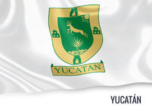 Mexican state Yucatan flag. Royalty Free Stock Image