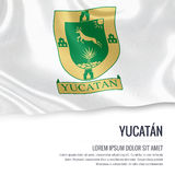 Mexican state Yucatan flag. Royalty Free Stock Photo