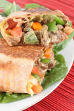 Mexican steak burrito Royalty Free Stock Photography