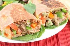 Mexican steak burrito Stock Photos