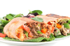 Mexican steak burrito Royalty Free Stock Images