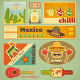 Mexican Stickers Royalty Free Stock Photos