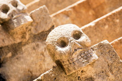 Mexican stone skulls Stock Images