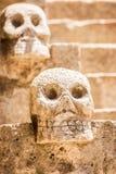 Mexican stone skulls Royalty Free Stock Photos