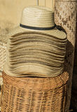 Mexican straw hats Royalty Free Stock Photos
