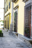 Mexican street decorated colorfully. Details Stock Photos