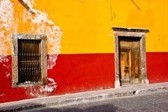 Mexican Street Scene. Charming street scenes in historic San Miguel de Allende Stock Image