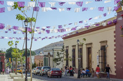 Mexican street. Street view in Oaxaca. Oaxaca is the capital and largest city of the Mexican state of the same name stock images