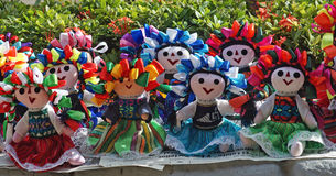 Mexican stuffed dolls. Stock Images