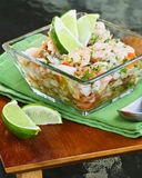 Mexican Style Ceviche Royalty Free Stock Photography
