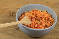 Mexican style cooked rice Stock Images