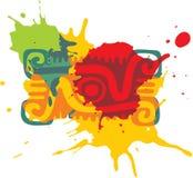 Mexican Style Design Element. (Paint Splats stock illustration