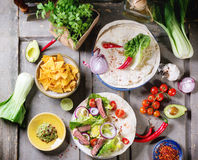 Mexican style dinner Stock Photography