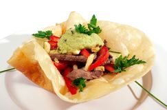 Mexican style food isolated Royalty Free Stock Photography