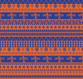 Mexican style pattern. Vector seamless pattern with traditional aztec ornaments Stock Photography