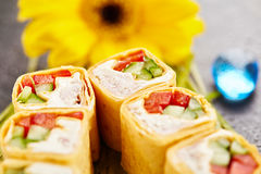 Mexican Style Sushi Roll Royalty Free Stock Images