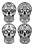 Mexican sugar skull, Dia de los Muertos icons set– stock illustration– stock illustration. Neditable file Royalty Free Stock Photos