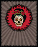 Mexican sugar skull Royalty Free Stock Photo