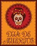 Mexican sugar skull Royalty Free Stock Image