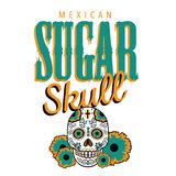 Mexican sugar skull isolated on white Stock Photo