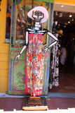 A Mexican sugar skull mannequin dressed in a summer dress Royalty Free Stock Photography