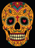 Mexican sugar skull. Mexican ornamental sugar skull Stock Images