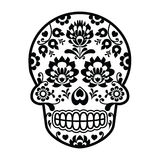 Mexican sugar skull - Polish folk art style - Wzory Lowickie, Wycinanka Stock Photography