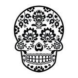 Mexican sugar skull - Polish folk art style - Wzory Lowickie, Wycinanka Stock Photography