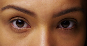 Mexican sultry eyes looking at camera Royalty Free Stock Photo