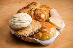 Mexican sweet bread. Sweet bread assorted traditional Mexican bakery Stock Images