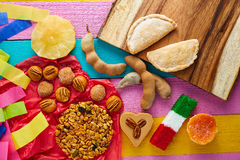 Mexican sweets and pastries cajeta tamarindo Stock Photo