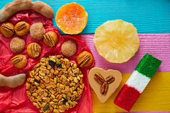 Mexican sweets and pastries cajeta tamarindo Royalty Free Stock Images