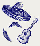 Mexican Symbols Royalty Free Stock Photos