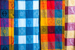 Mexican Tablecloths Royalty Free Stock Photos