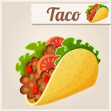 Mexican Taco. Detailed Vector Icon Stock Photos
