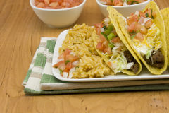 Mexican taco dinner detail Stock Photos