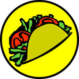 Mexican taco vector illustration Stock Photo