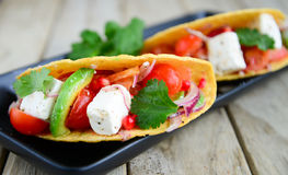Mexican tacoes vegetarian Royalty Free Stock Photo