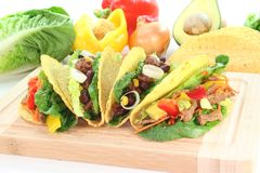 Mexican tacos with beef Stock Images