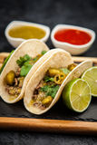 Mexican tacos with beef Stock Photos