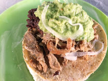 Mexican tacos - beef taco Royalty Free Stock Images