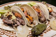 Mexican Tacos Close Up Royalty Free Stock Photography