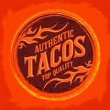 Mexican Tacos icon - emblem Royalty Free Stock Photo