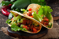 Mexican tacos with meat Royalty Free Stock Photo