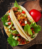Mexican tacos with meat Royalty Free Stock Images