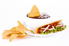 Mexican Tacos with nachos Royalty Free Stock Photos