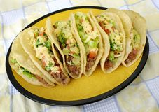 Mexican tacos on a plate Stock Photography