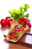 Mexican tacos in tortilla shells Stock Images