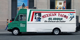 Mexican Tacos Vehicle. Parking in a street in NYC Royalty Free Stock Image