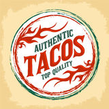 Mexican Tacos vintage icon - emblem Stock Photos